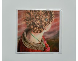 Girl with Plaited Hair, card