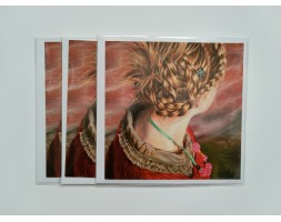 Girl with Plaited Hair, card set of 3