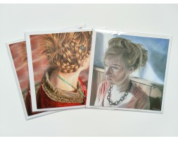 Art Greetings Cards, pack of 3