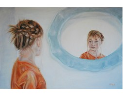 Girl in the Mirror, oil on canvas