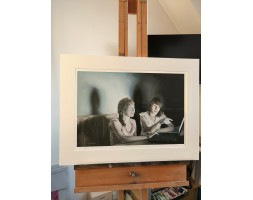 Girls Online, mounted limited edition print